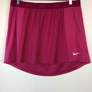 """NIKE GOLF Sz XL Dri-FIT Skirt Hot Pink Hi Low 15""""L"""